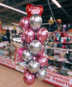 Букет шаров с пожеланием никополь