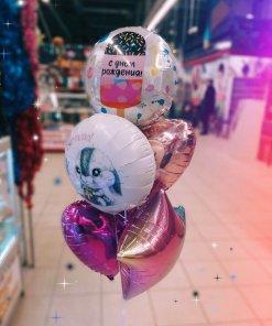 Шарики на день рождения фольгированные звёзды и фигуры