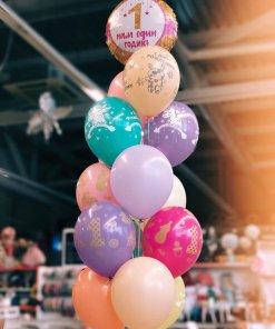 Букет гелиевых шаров на 1 годик