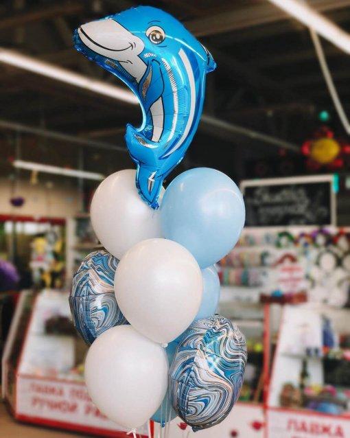 Делифин шар фольгированный букет