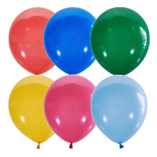 Гелиевые шары разного цвета ассорти