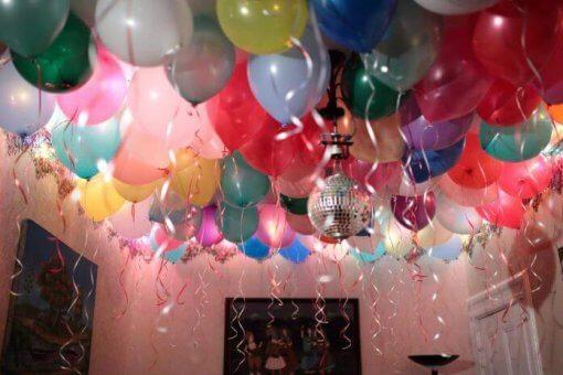 ГЕлиевые шары под потолок без рисунка