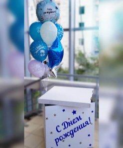 Встречаем с роддома - коробку сюрприз заказать для шаров в никополе