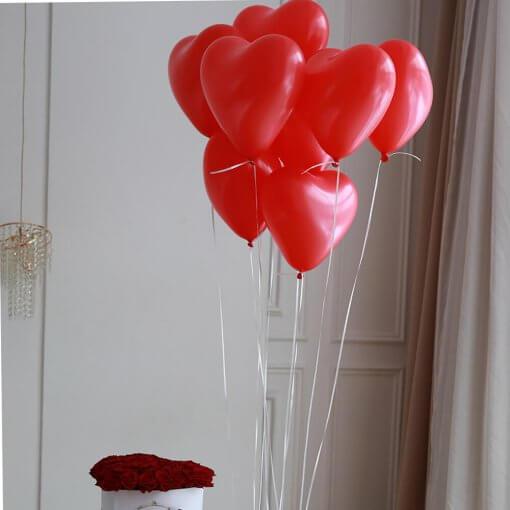8 сердец гелиевых сердец воздушные шары г никополь