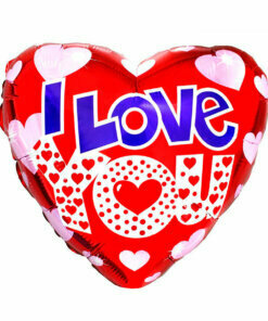 Гелиевый шар сердце фольгированное любовь