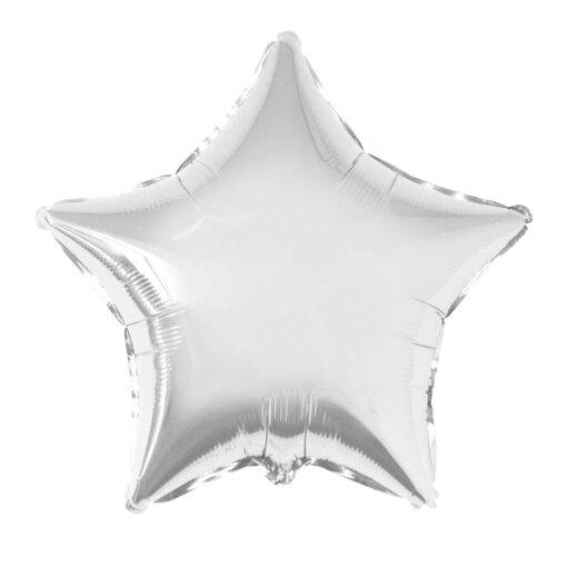 Серебряная звёздочка воздушный шар