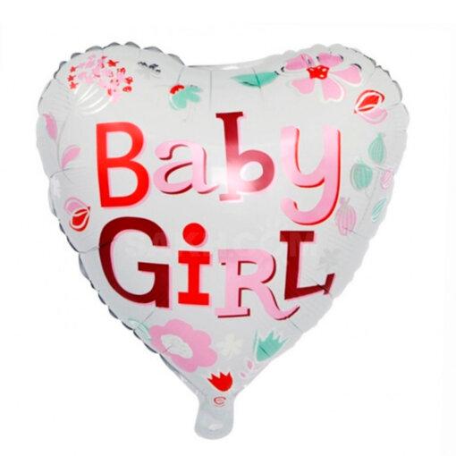 Гелиевый шар для девочки встречи с роддома