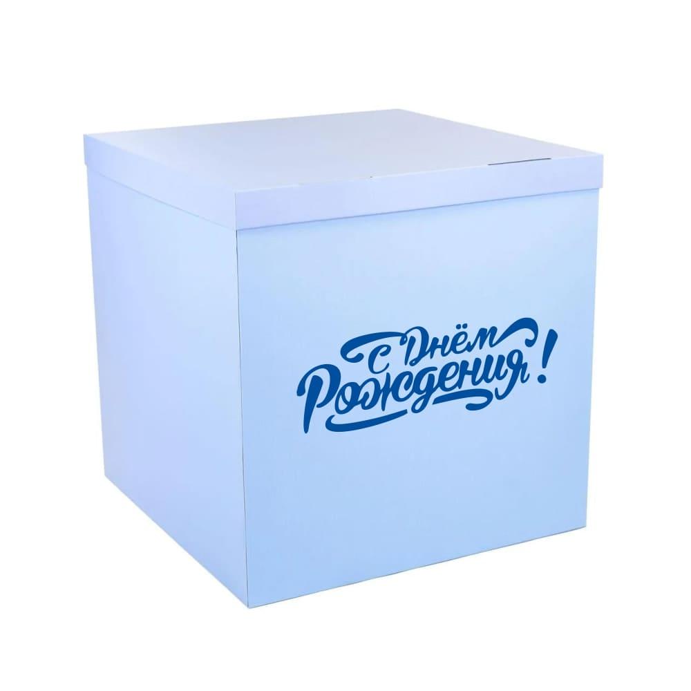 Наклейка на коробке с шарами
