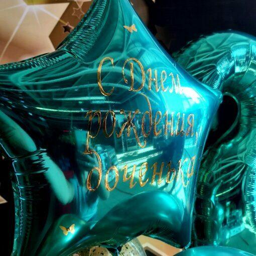 Шар с надписью поздравление с днём рождения